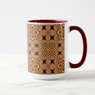 Brown And Cream Mosaic Pattern Mug
