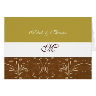 Brown and Gold Floral Accented Greeting Card