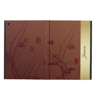 Brown and Gold Leaf iPad Air 2 Case