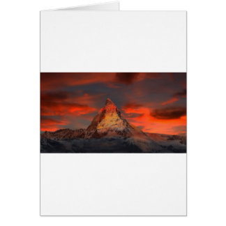 Brown and Gray White Mountain Under Cloudy Sky Card