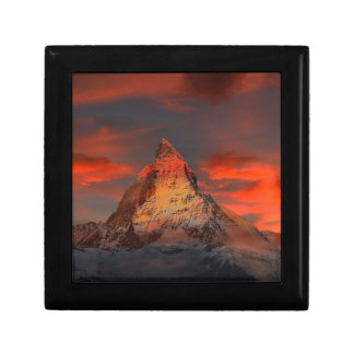 Brown and Gray White Mountain Under Cloudy Sky Gift Box