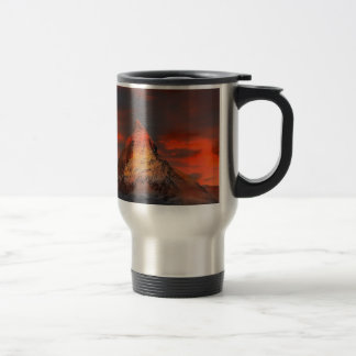 Brown and Gray White Mountain Under Cloudy Sky Travel Mug