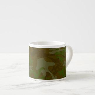 Brown And Green Camo Espresso Mug 6 Oz Ceramic Espresso Cup