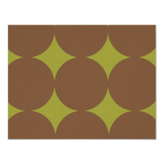 Brown and Green Modern Polka Dots Weddin RSVP card Personalized Announcement