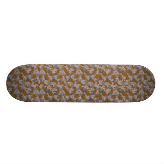 Brown and Grey Camouflage 21.6 Cm Old School Skateboard Deck