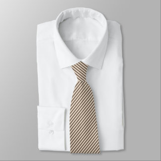 Brown and Khaki Thin Stripes Tie