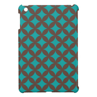 Brown and Mint Geocircle Design Cover For The iPad Mini