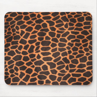 Brown And Orange Animal Pattern Mouse Pad