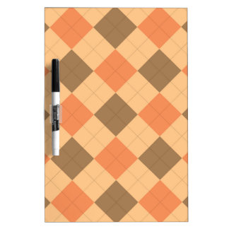 Brown and orange argyle pattern Dry-Erase whiteboard