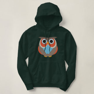Brown and Orange Owl Hoodie