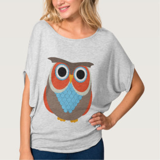 Brown and Orange Owl T-Shirt