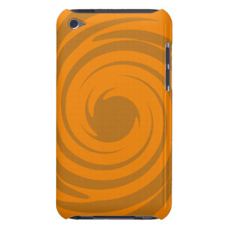 Brown and orange swirl iPod touch case