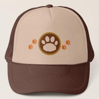 Brown and Orange Thanksgiving Paw Prints Trucker Hat