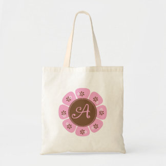 Brown and Pink Monogram A
