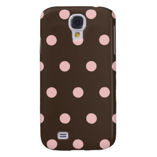 Brown and Pink Polka Dots  Galaxy S4 Covers