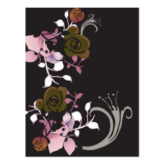 Brown and pink roses Postcard
