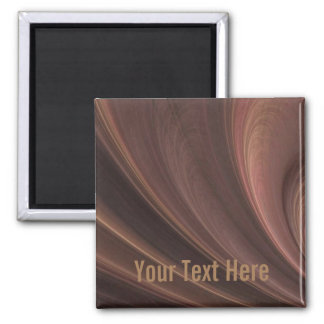 Brown And Pink Sand  Waves Magnet