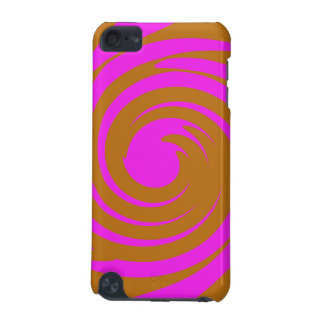 Brown and pink swirl iPod touch 5G cases