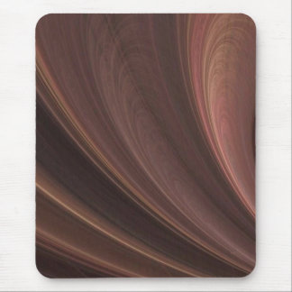 Brown And Pink Waves Mouse Pad