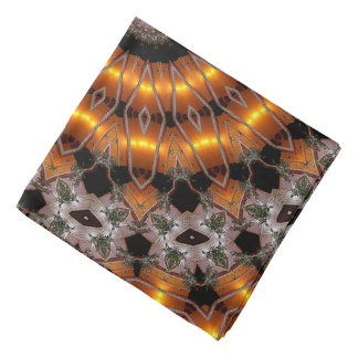 Brown And Purple Abstract Concentric Pattern Head Kerchiefs