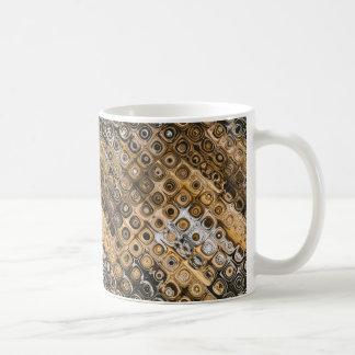 Brown And Tan Abstract Coffee Mug