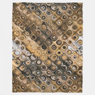 Brown And Tan Abstract Fleece Blanket
