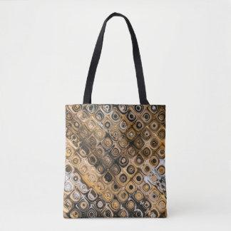 Brown And Tan Abstract Tote Bag