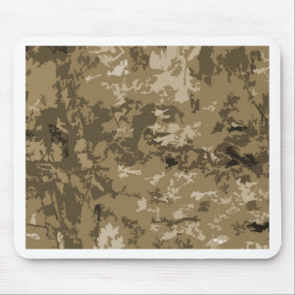 Brown and Tan Camouflage Nature Camo Pattern Mousepad
