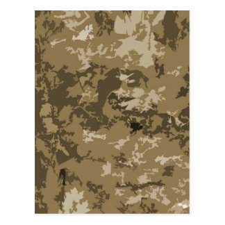 Brown and Tan Camouflage Nature Camo Pattern Postcards