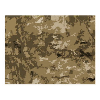 Brown and Tan Camouflage Nature Camo Pattern Postcard