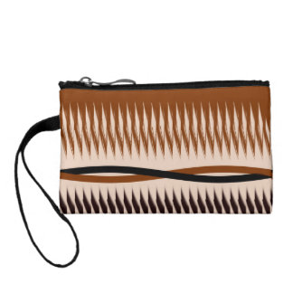 Brown and Tan Design Coin Wallet