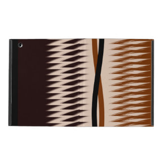 Brown and Tan Design iPad Case