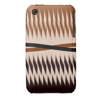 Brown and Tan Design iPhone 3 Case-Mate Case