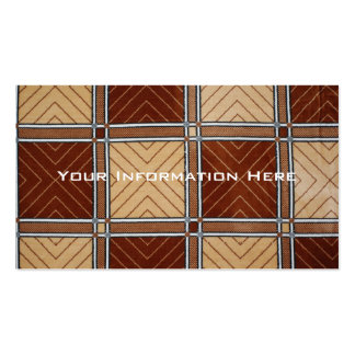 Brown and Tan Geometric Textile Business Cards
