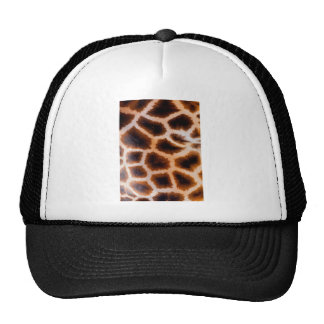 Brown and Tan Giraffe Fur Cap