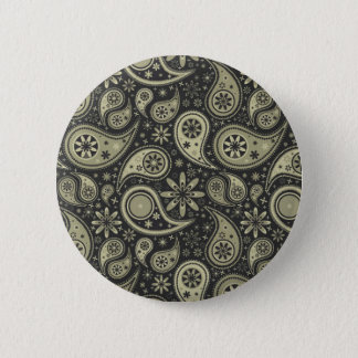 Brown and Tan Paisley Design Pattern Background 6 Cm Round Badge
