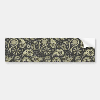 Brown and Tan Paisley Design Pattern Background Bumper Sticker