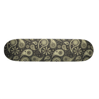Brown and Tan Paisley Design Pattern Background Skate Boards
