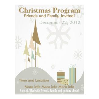 Brown and tan Retro Christmas Program Flyer