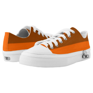Brown and Tangerine Two-Tone Lo-Top