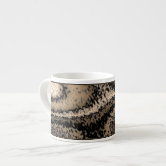 Brown and Taupe Abstract Espresso Mug