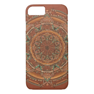Brown and teal manala iPhone 8/7 case