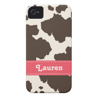Brown and White Cow Print Blackberry Bold Case Pin