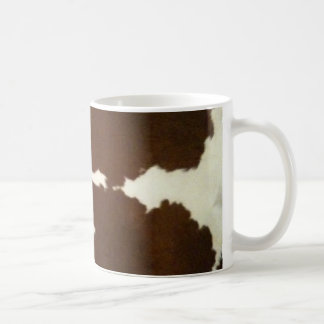 Brown and White Cowhide Western Mug