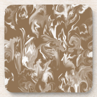 Brown and White design mixed color coaster