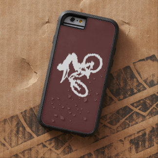 Brown and White Fast Mountain Bike Tough Xtreme iPhone 6 Case