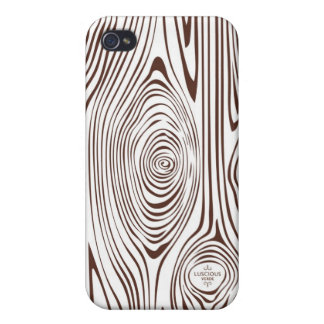 Brown and White Faux Bois iPhone Case Case For iPhone 4