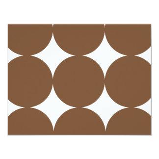 "Brown and White Modern Polka Dots Weddin RSVP card 4.25"" X 5.5"" Invitation Card"