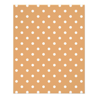Brown and White Polka Dots Pattern. Full Color Flyer