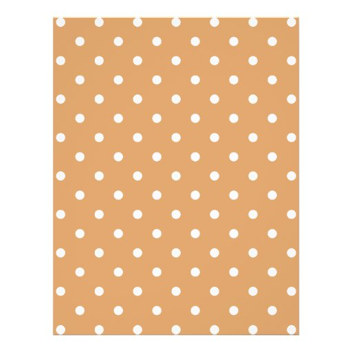 Brown and White Polka Dots Pattern. Flyers
